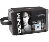 Denim Black voda po holení 100 ml + deodorant sprej 150 ml + kosmetická etue, kosmetická sada