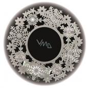 Věnec 30 x 30 cm - 11 LED teplá bílá + časovač