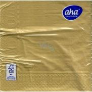 Aha Vánoční papírové ubrousky Zlaté 3 vrstvé 33 x 33 cm 20 kusů