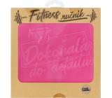 Albi Fitness ručník Dokonalá do detailu růžový 90 x 50 cm