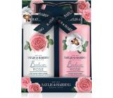 Baylis & Harding Čerstvé růže mycí gel 300 ml + tělové mléko 300 ml, kosmetická sada