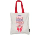 Nekupto Neplastuj Nákupní taška bavlna, Svoji značkovou kabelku 38 x 40 x 10 cm