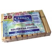 Clanax Kolíčky na prádlo dřevěné 20 kusů