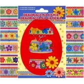 Fólie na vajíčka květiny barevné, 12 kusů v balení (smršťovací košilky)
