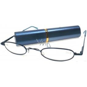 Berkeley Cleopatra čtecí dioptrické brýle +2,0 modré v pouzdru 1 kus M160