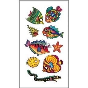 Tetování barevné ryby 16,5 x 10,5 cm
