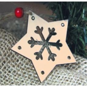 Předloha ze dřeva hvězda 6 cm 4 kusy