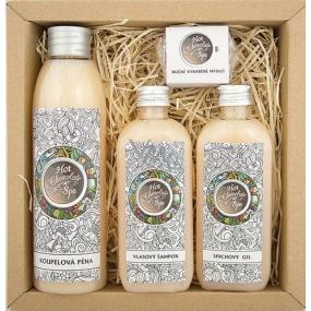 Bohemia Hot Chocolate Spa koupelová pěna 200 ml + sprchový gel 100 ml + vlasový šampon 100 ml + ručně vyráběné mýdlo 30 g, kosmetická sada