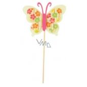 Motýl z filcu zápich 6 cm + špejle