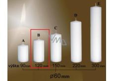 Lima Gastro hladká svíčka bílá válec 60 x 120 mm 1 kus
