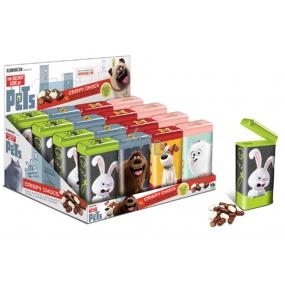 Tajný život mazlíčků Čokoládové křupínky modrá krabička 30 g