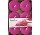 Bolsius Aromatic Maxi Lilac Blossom - Šeřík vonné čajové svíčky 6 kusů, doba hoření 8 hodin