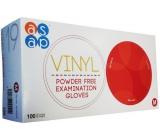Asap Rukavice vinyl jednorázové nepudrované vyšetřovací velikost M box 100 kusů