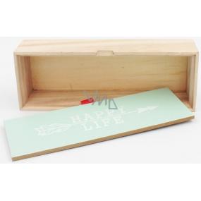 Nekupto Home Decor Dřevěný box Happy life 22 x 8 x 5 cm