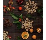 Nekupto Vánoční kartičky na dárky vločka 6,5 x 6,5 cm 6 kusů