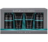 Baylis & Harding Jantar a Santalové dřevo tekuté mýdlo na tělo i vlasy 100 ml + mycí gel na obličej 100 ml + balzám po holení 50 ml + sprchový gel 50 ml, kosmetická sada pro muže