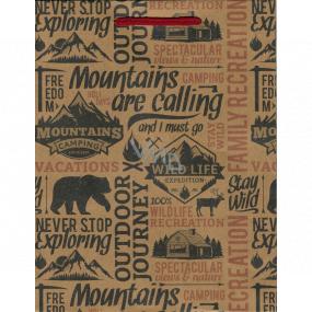 Nekupto Dárková papírová taška 24,5 x 19 x 8 cm Mountains 570 KHM