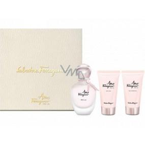 Salvatore Ferragamo Amo Ferragamo Per Lei parfémovaná voda pro ženy 50 ml + tělové mléko 50 ml + sprchový gel 50 ml, dárková sada
