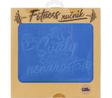 Albi Fitness ručník Svaly samy nenarostou modrý 90 x 50 cm