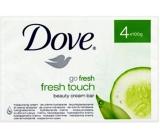 Dove Go Fresh Touch Okurka & Zelený čaj toaletní mýdlo 100 g x 4