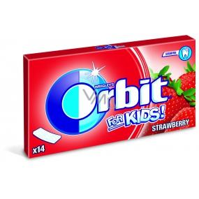 Wrigleys Orbit Kids Jahoda žvýkačky bez cukru plátky 14 kusů 27 g
