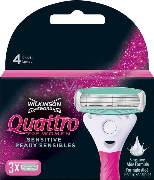 Wilkinson Quattro for Women náhradní hlavice 3 kusy