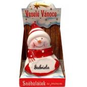 Nekupto Sněhuláček se jménem Gabriela Vánoční dekorace 018 rozměr 8 cm