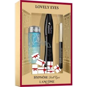 Lancome Hypnose Doll Eyes řasenka černá 6,5 ml + dvoufázový odličovač očí 30 ml + černá tužka na oči 0,7 g, kosmetická sada