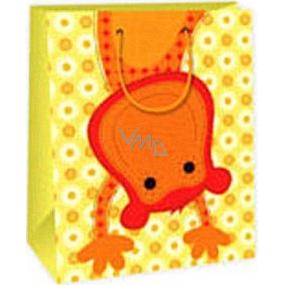 Ditipo Dárková papírová taška 26,4 x 13,7 x 32,4 cm žlutá opička AB