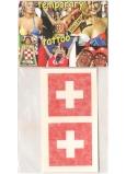 Arch Tetovací obtisky na obličej i tělo Švýcarsko vlajka 2 motivy