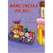 Ditipo Hrací přání k narozeninám Máme dneska oslavu Miroslav Etzler Máme doma obludu 224 x 157 mm