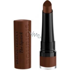 Bourjois Rouge Velvet The Lipstick rtěnka 25 Macabrown 2,4 g