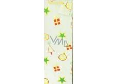 Nekupto Dárková papírová taška na láhev 33 x 10 x 9 cm Vánoční, zlatá hologram 036 12 GLH
