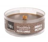 WoodWick Amber & Incense - Ambra a kadidlo vonná svíčka s dřevěným knotem petite 31 g