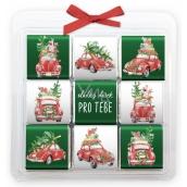 Nekupto Čokoládové puzzle vánoční, Auta 9 x 5 g, 11 x 11,5 x 0,7 cm