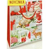 Nekupto Dárková papírová taška střední 23 x 18 x 10 cm Vánoční 1804 30 WBM
