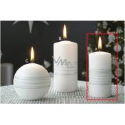 Lima Exclusive svíčka stříbrná válec 50 x 100 mm 1 kus