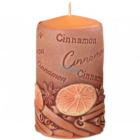 Emocio Skořice Cinnamon vonná svíčka válec 60 x 110 mm