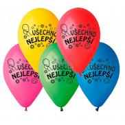 """Balónky """"Všechno nejlepší"""", 26 cm, 10 kusů v balení, mix barev"""