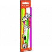 Y-Plus Star Neon grafitové tužky s pryží trojhranné 8 mm 6 kus mix neon barev