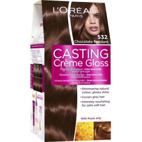 Loreal Paris Casting Creme Gloss barva na vlasy 532 Čokoládová pralinka