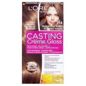 Loreal Paris Casting Creme Gloss barva na vlasy 714 Nugátový krém