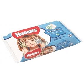 Huggies Everyday vlhčené čisticí ubrousky pro děti 56 kusů