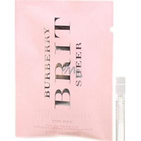 Burberry Brit Sheer toaletní voda pro ženy 2 ml s rozprašovačem, Vialka