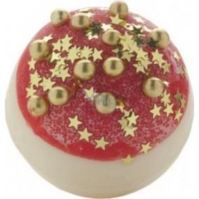 Bomb Cosmetics Vánoční záře - Glitterballs Bath Creamer Kulička do koupele 30 g