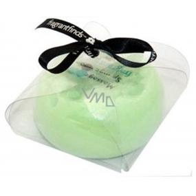 Fragrant Appleliscious Glycerinové mýdlo masážní s houbou naplněnou vůní parfému DKNY Green Apples v barvě světle zelené 200 g