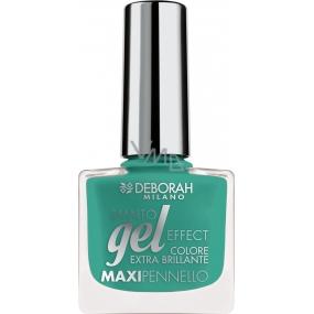 Deborah Milano Gel Effect Nail Enamel gelový lak na nehty 37 Emerald Green 11 ml