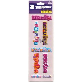 Nekupto 3D Samolepky se jménem Beruška 8 kusů 004