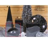 Lima Artic svíčka černá koule 100 mm 1 kus