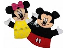 Mickey Mouse & Minnie mycí žínka pro děti 22 x 21,3 x 1,5 cm 1 kus